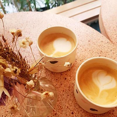 Les latte art de Peonies