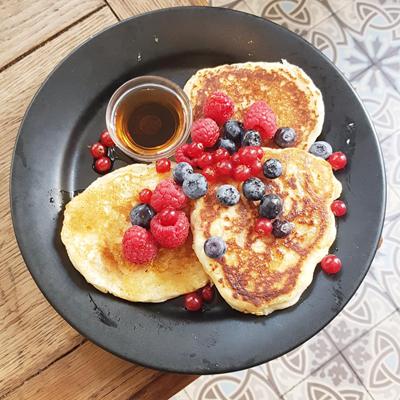 Les pancakes aux fruits rouges de Passager