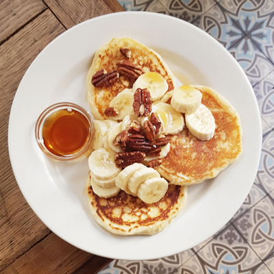 Les pancakes bananes noix de Passager