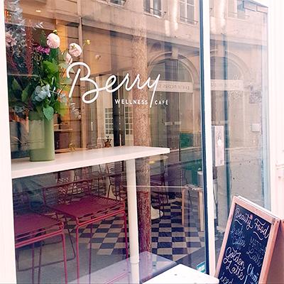 La vitrine de Café Berry