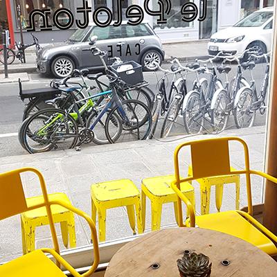 La vue sur les vélos de Le Peloton