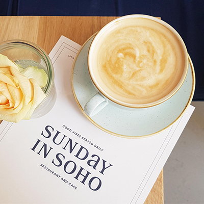 Le cappuccino de Sunday in Soho