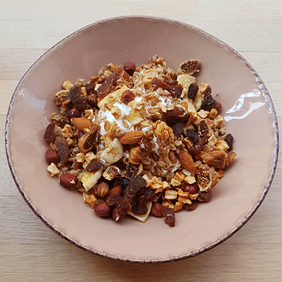 Le granola aux fruits secs de Radiodays