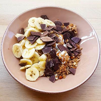 Le granola chocolat banane de Radiodays