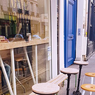 L'extérieur de Café Foufou