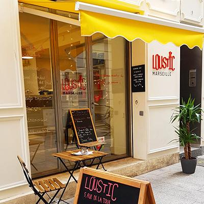 La devanture de Loustic Marseille