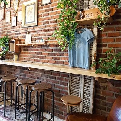 Le bar et mur en briques de Coogee