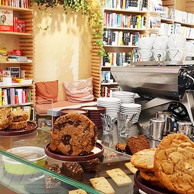 La vitrine de cookies de Ici Librairie