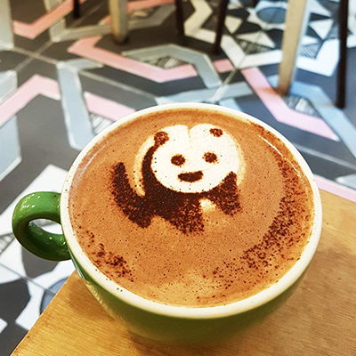 Le chocolat chaud panda de Coffee Spoune