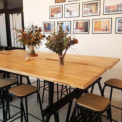 L'espace travail de Nomade Café