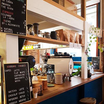 Le coin barista de SIP Coffee Bar