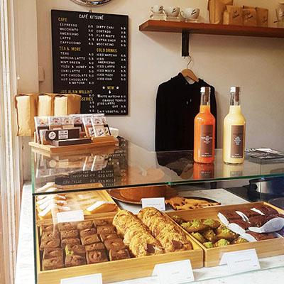 Les multiples pâtisseries de Café Kitsuné
