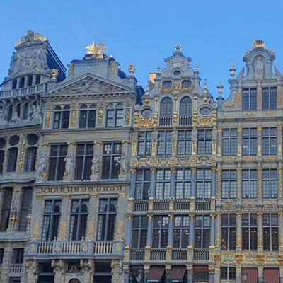 Les immeubles dorés de Bruxelles