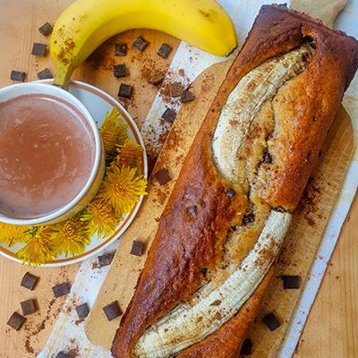 Chocolat chaud et banana bread