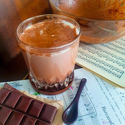 Chocolat chaud très chocolaté