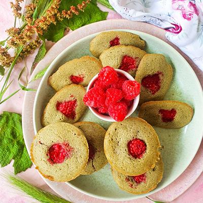 Muffins et Madeleines matcha framboise